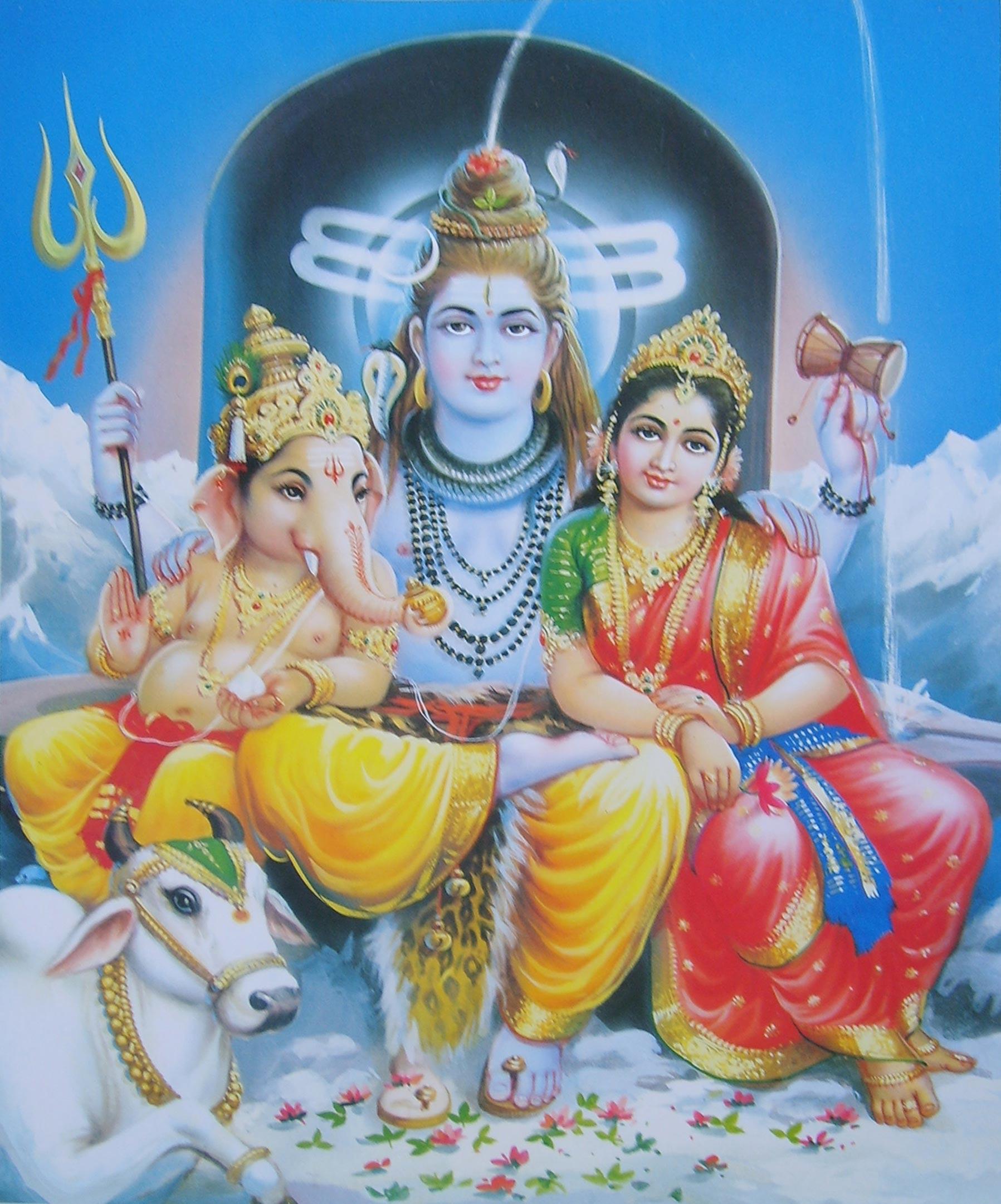 Ganesha, Shiva e Parvati